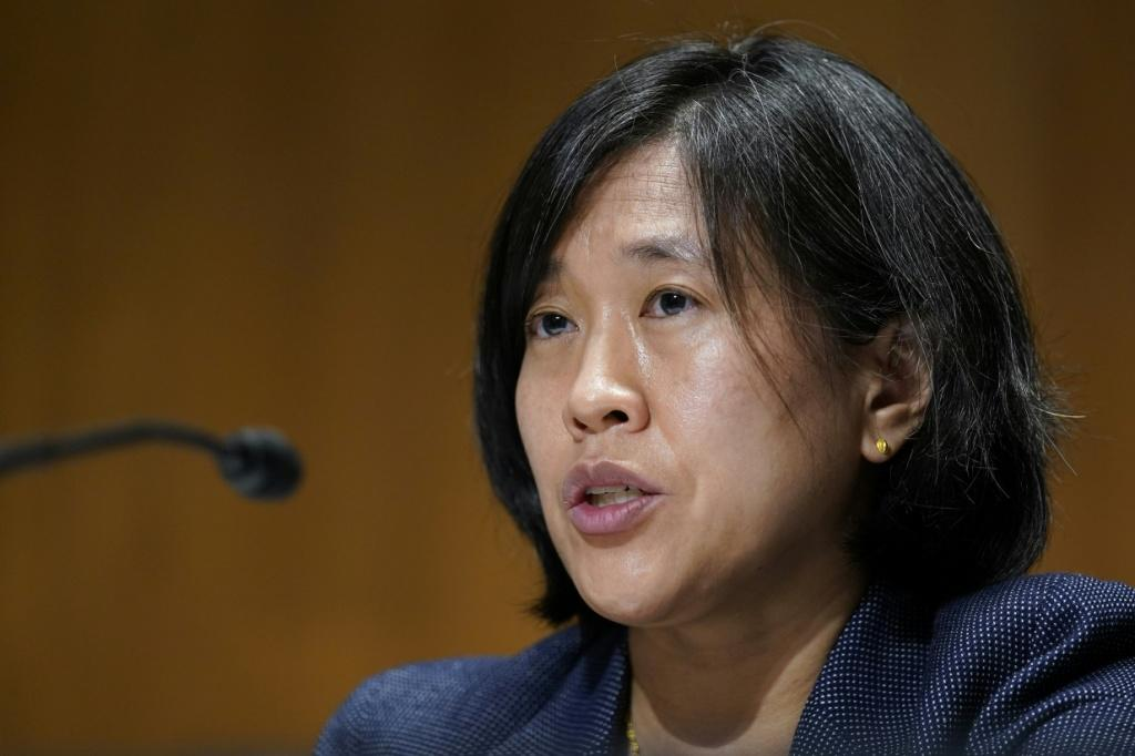 US Trade Representative Katherine Tai has said she will defend Washington's interests, and used the USMCA trade agreement to pursue a dispute against Canada's dairy industry
