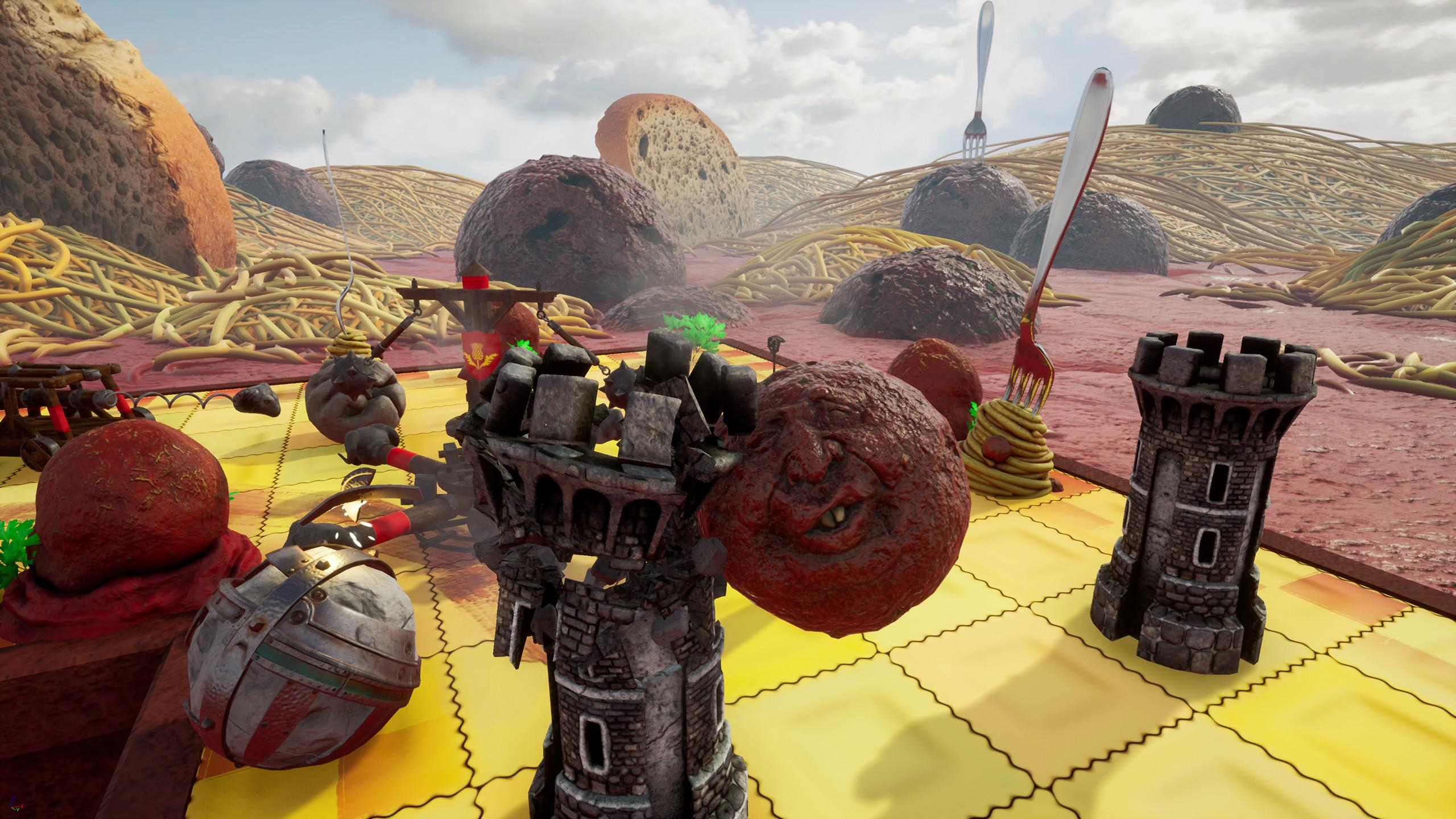 Rock of Ages is a hybrid of racing and tower defense games set in surreal world based off of medieval art