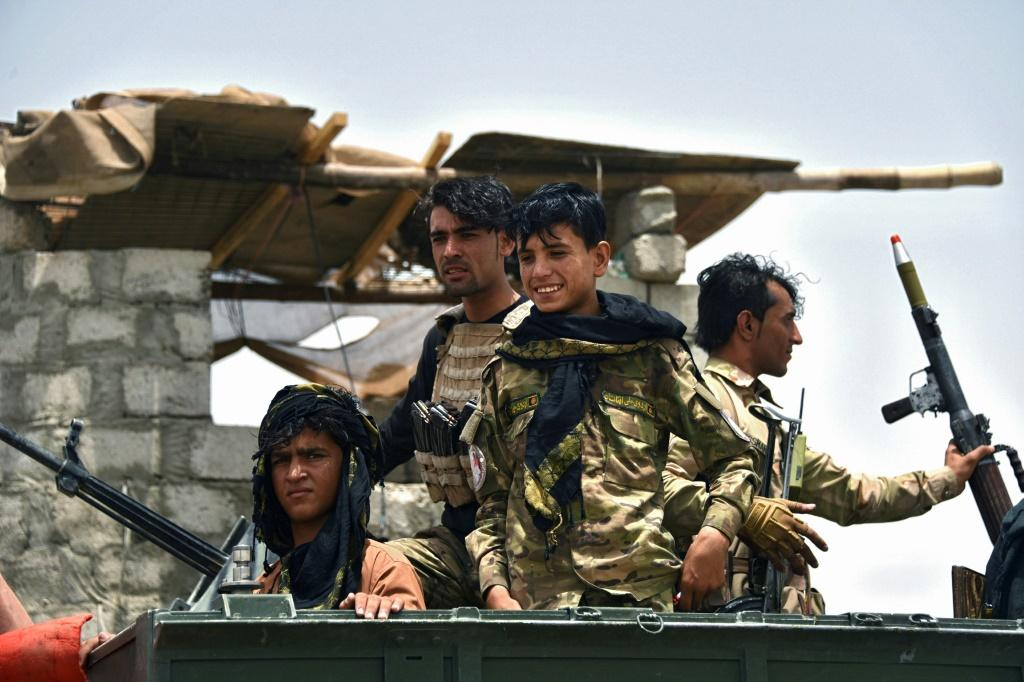 Afghan policemen in Kandahar province, where the Taliban are increasingly strong
