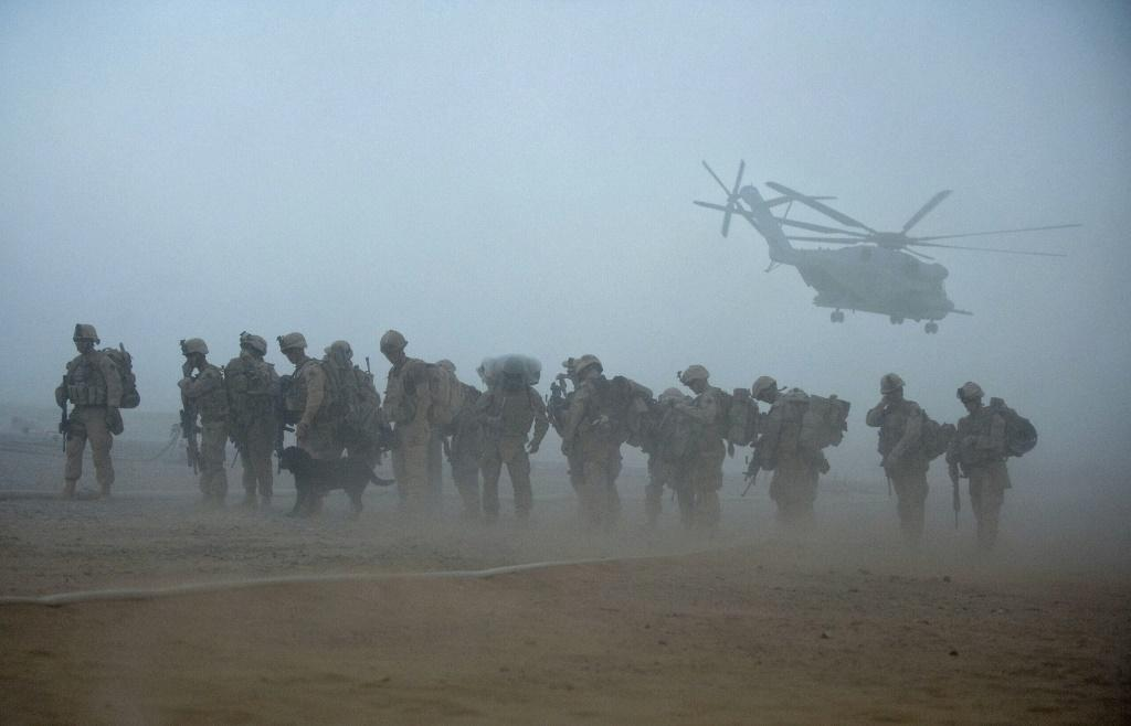 US Marines in Afghanistan in 2009, not knowing the war would continue more than another decade