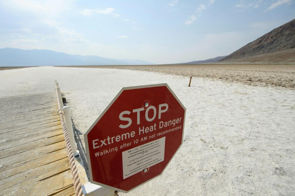 Death Valley, California -- often the nation's hottest spot -- was headed for a high of 126 degrees Fahrenheit