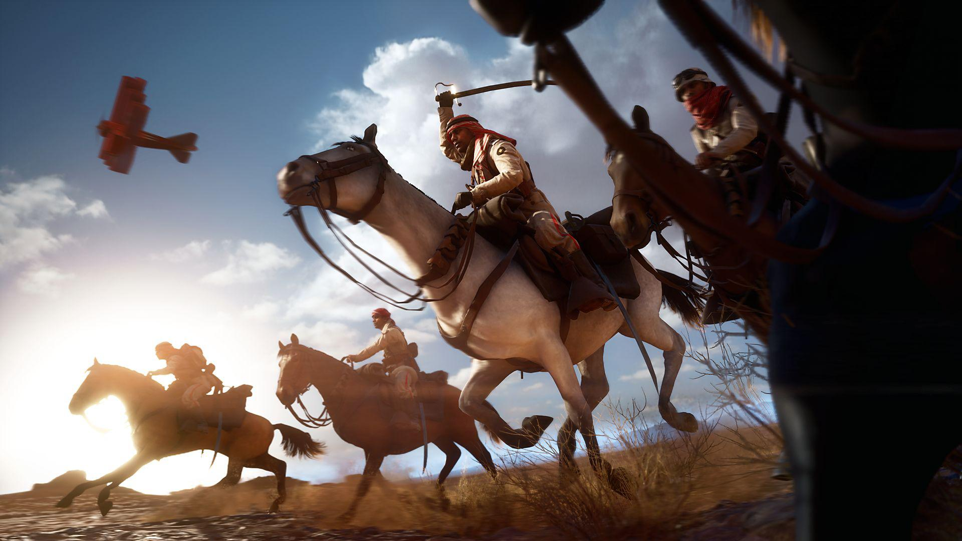 Battlefield 1 featured mounted cavalry armed with melee weapons, carbine rifles and anti-tank grenades