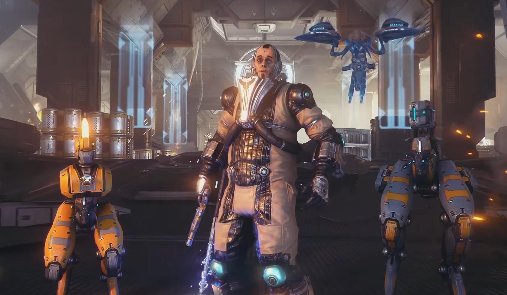 Veso, the playable Corpus Crewman featured in the New War demo in Warframe