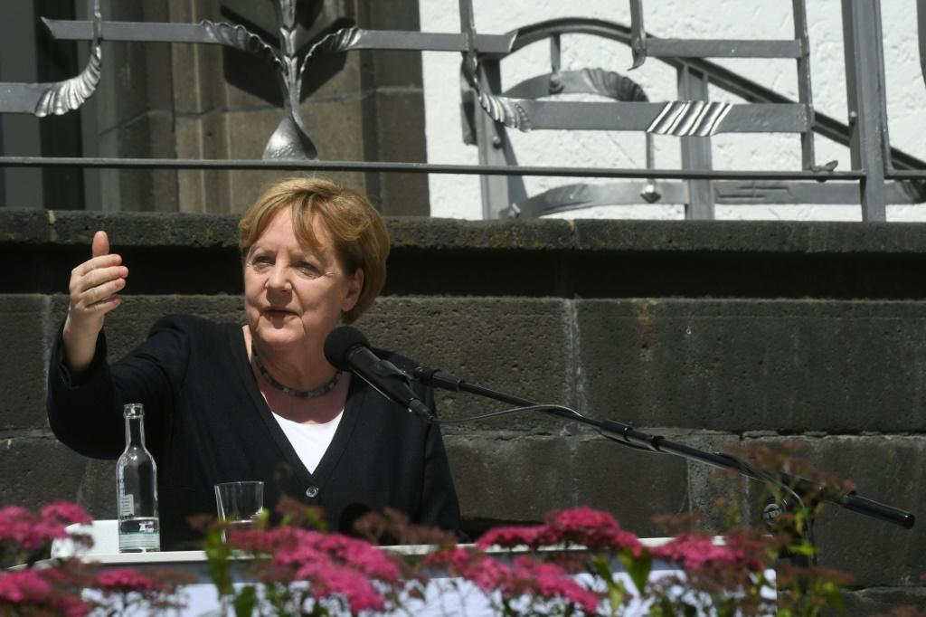 German Chancellor Angela Merkel said many people were left with just 'the clothes on their backs'