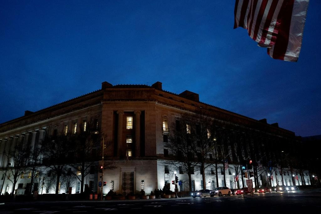 The Department of Justice (DOJ) building on January 11, 2021 in Washington, DC.