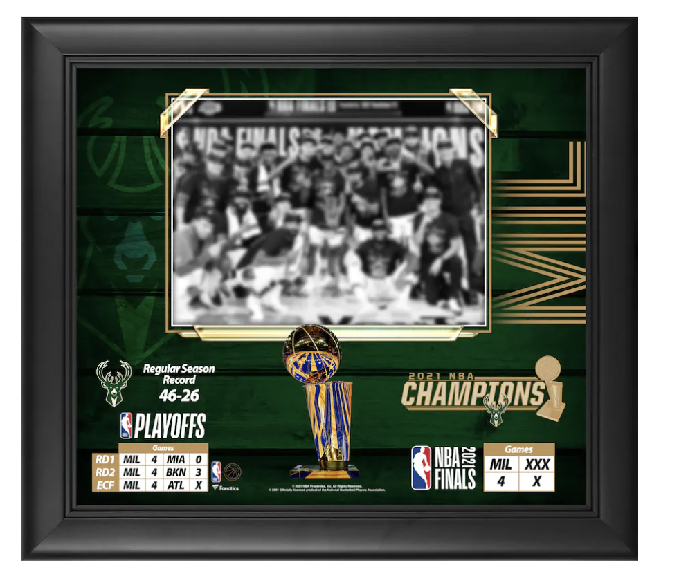 """Framed 15"""" x 17"""" 2021 NBA Finals Champions Collage"""