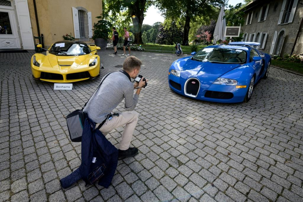 A collection of luxury cars seized from Equatorial Guinea's vice president Teodorin Obiang Nguema were auctioned off in Switzerland 2019: Britain has now announced sanctions against him and four other figures from other countries accused of corruptly plun
