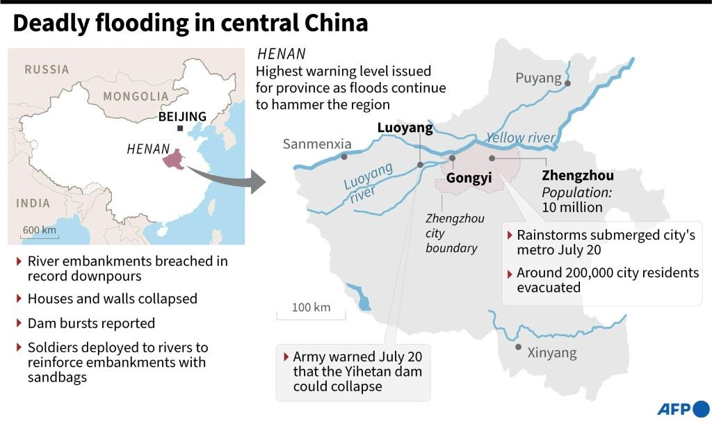 Factfile on the flooding in Henan province, China, as of July 21