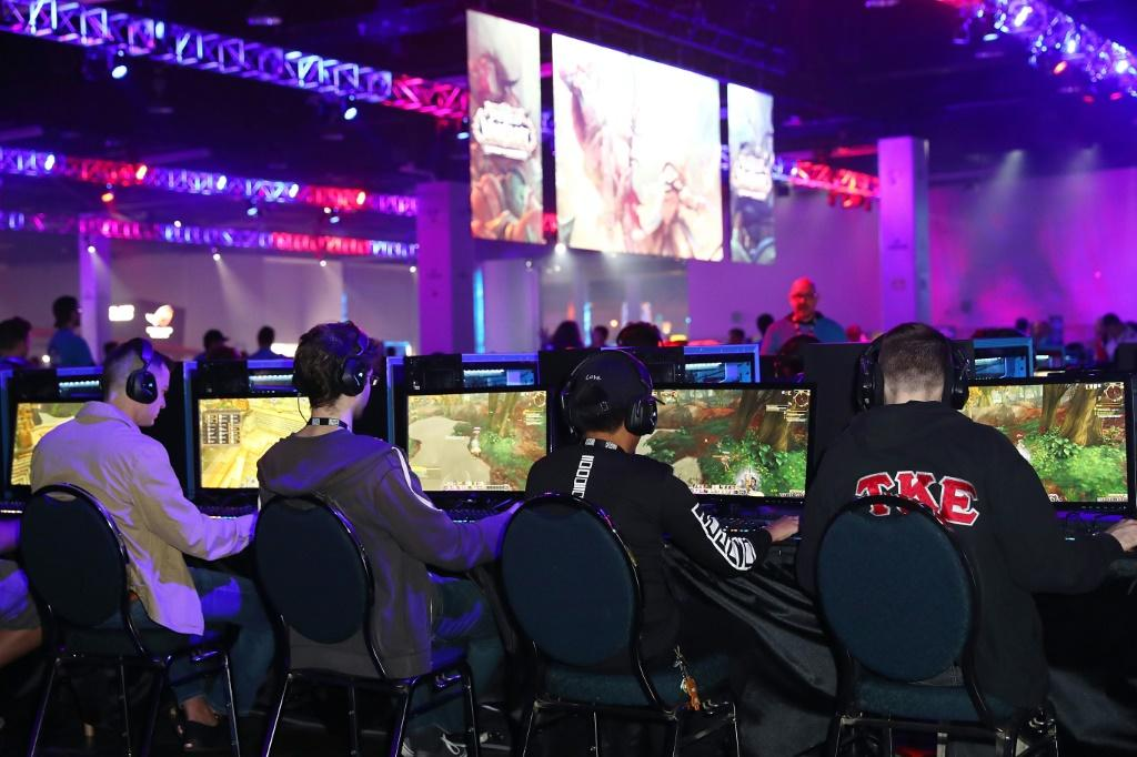 Guests demo the Activision Blizzard game World of Warcraft at BlizzCon 2017 at Anaheim Convention Center