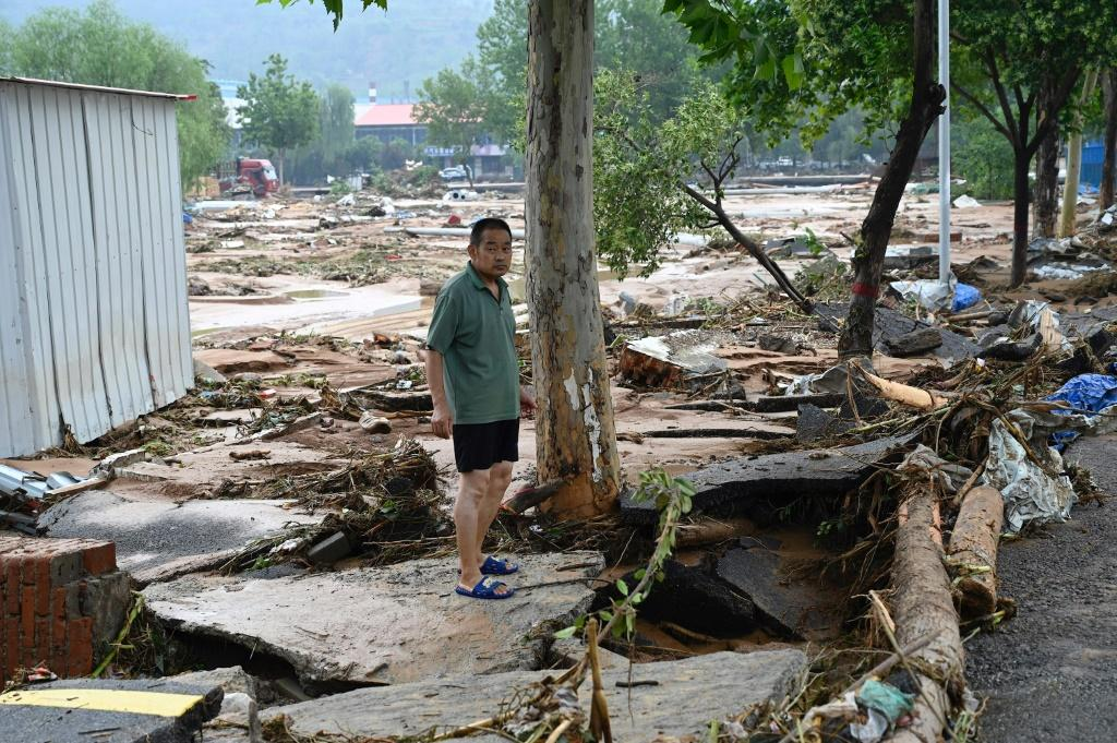 Hundreds of thousands of people have been affected by the floods across Henan province