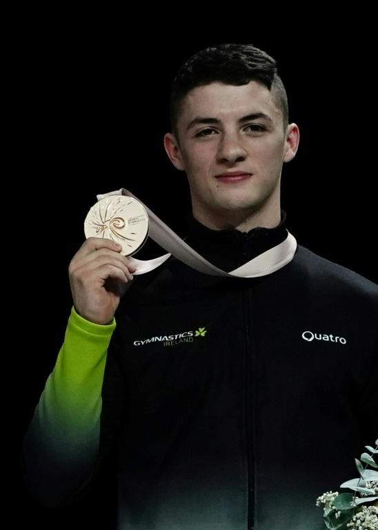 Rhys McClenaghan after claiming pommel horse world championship bronze in 2019