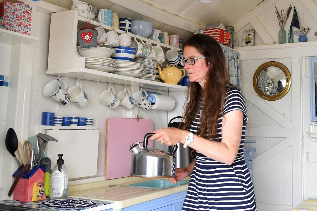 For Melanie Whitehead, 49, her beach hut has been a welcome getaway during the pandemic