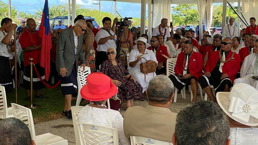In May, Fiame Naomi Mata'afa was sworn in as prime minister at a ceremony inside a makeshift tent after her FAST party was locked out of the parliament building