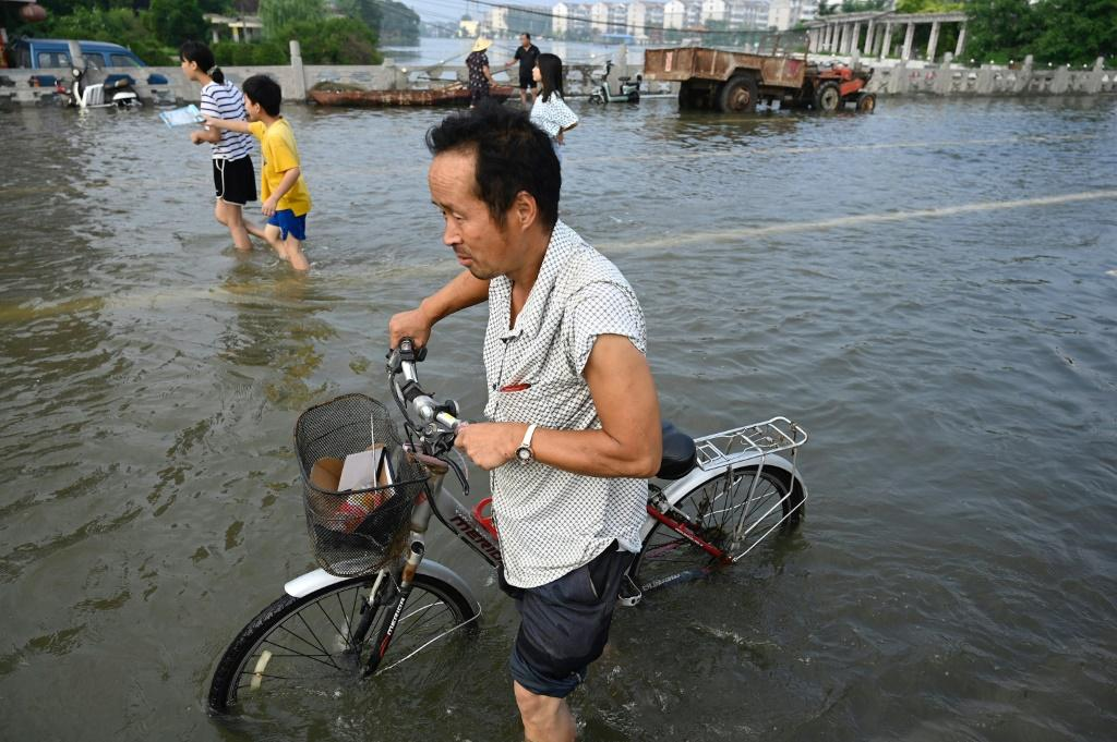 Record levels of rain have fallen this week in Henan province, central China