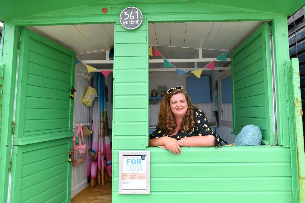 Sarah Stimson, who runs a rental business called Walton-on-the-Naze Beach Huts, says this has been her best year yet