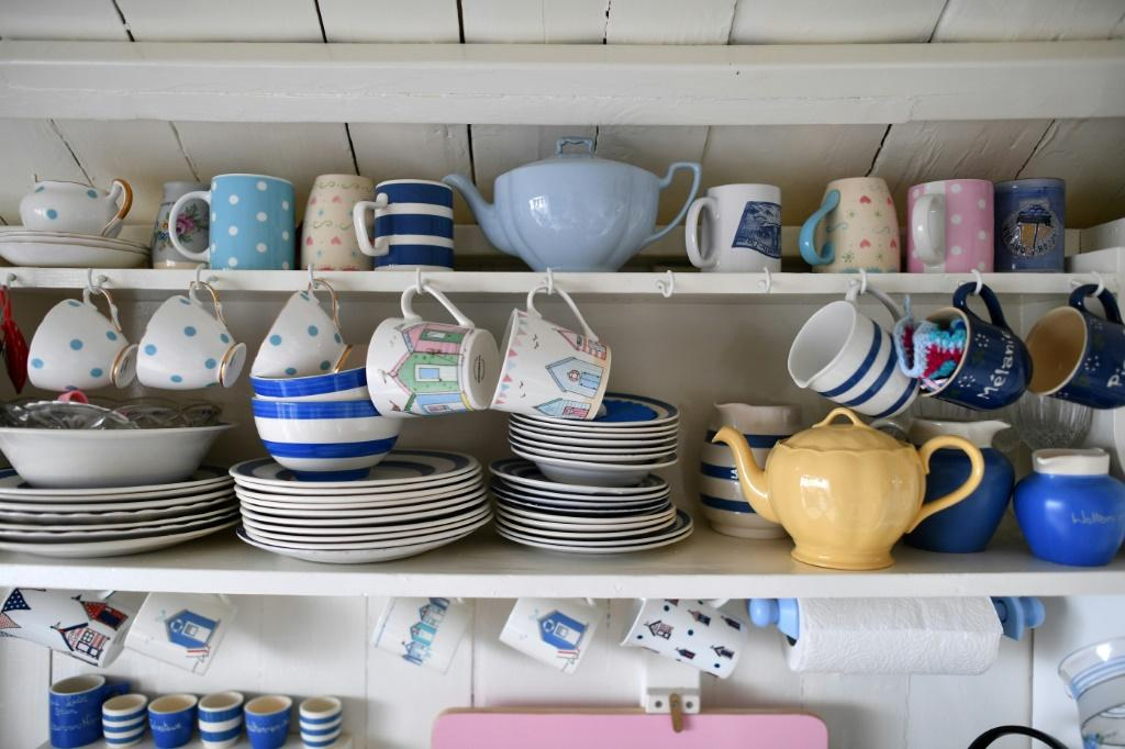 Traditionally, beach huts were a place to change into your swimsuit -- but also offer a chance to make a cup of tea