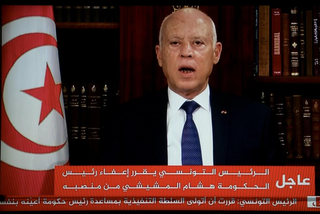 President Kais Saied announces the dissolution of parliament and sacks Prime Minister Mechichi's government after a day of nationwide protest