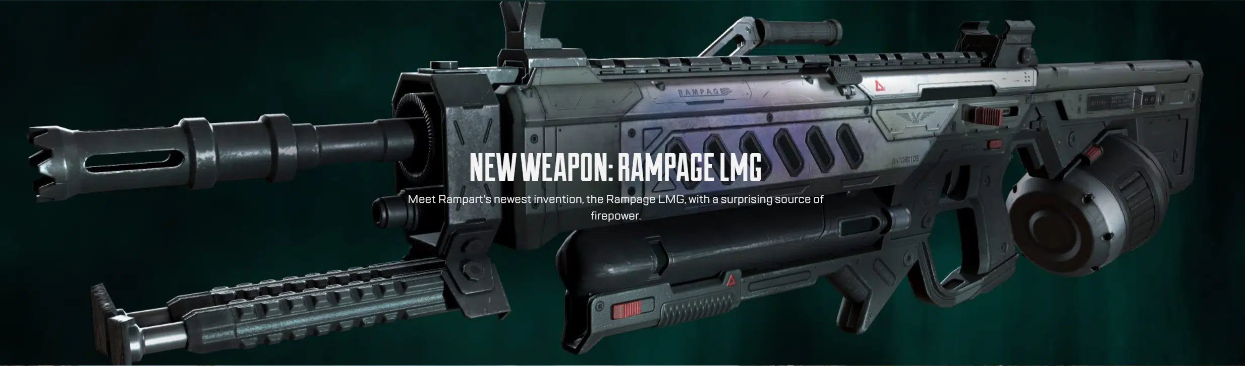 The Rampage LMG, the newest weapon coming to Apex Legends in Season 10