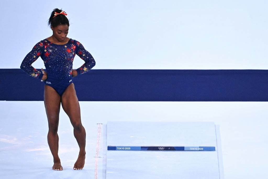 USA's Simone Biles arrived in Japan as one of the headline acts of the pandemic-postponed 2020 Games, shouldering an immense weight of expectation