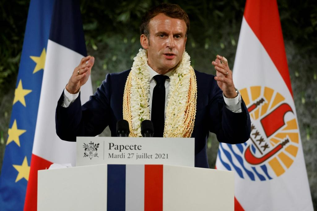 French President Emmanuel Macron stopped short of apologising for the nuclear tests carried out from 1966 to 1996