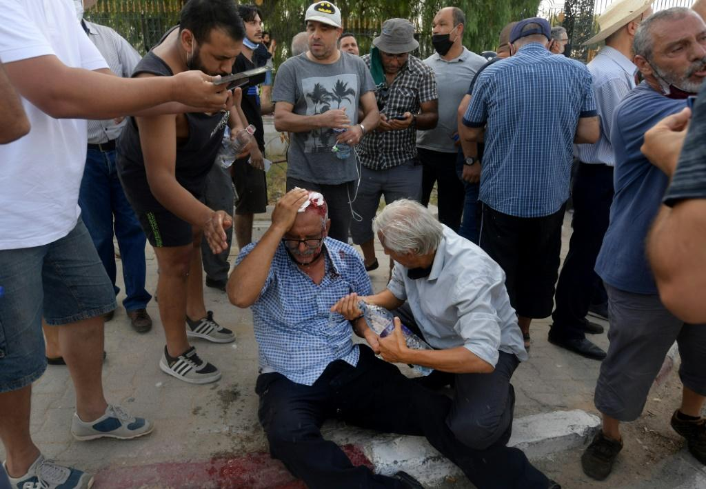 There were clashes on Monday outside parliament in the capital