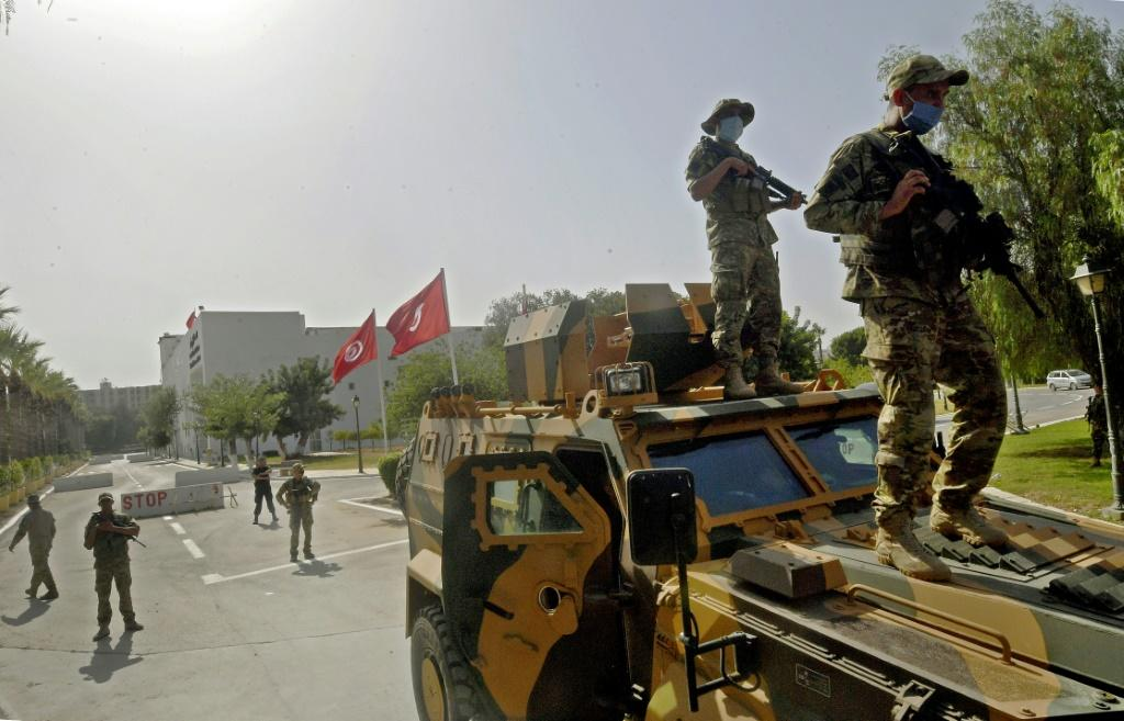 Tunisian soldiers have surrounded parliament, seen here on July 26, 2021