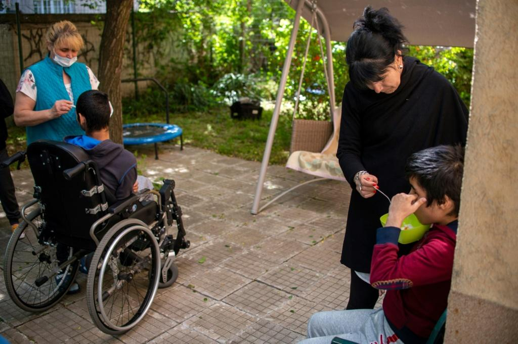 Bulgaria has been shutting its dozens of large care homes for abandoned children, moving them to smaller family-like homes such as this one in Sofia
