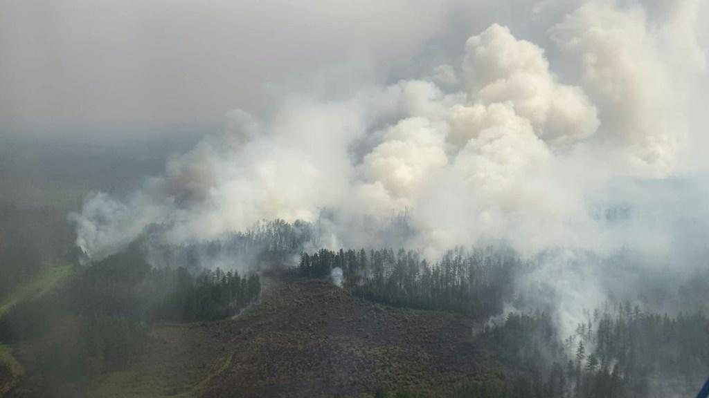 Russia's coldest region burns with wildfires