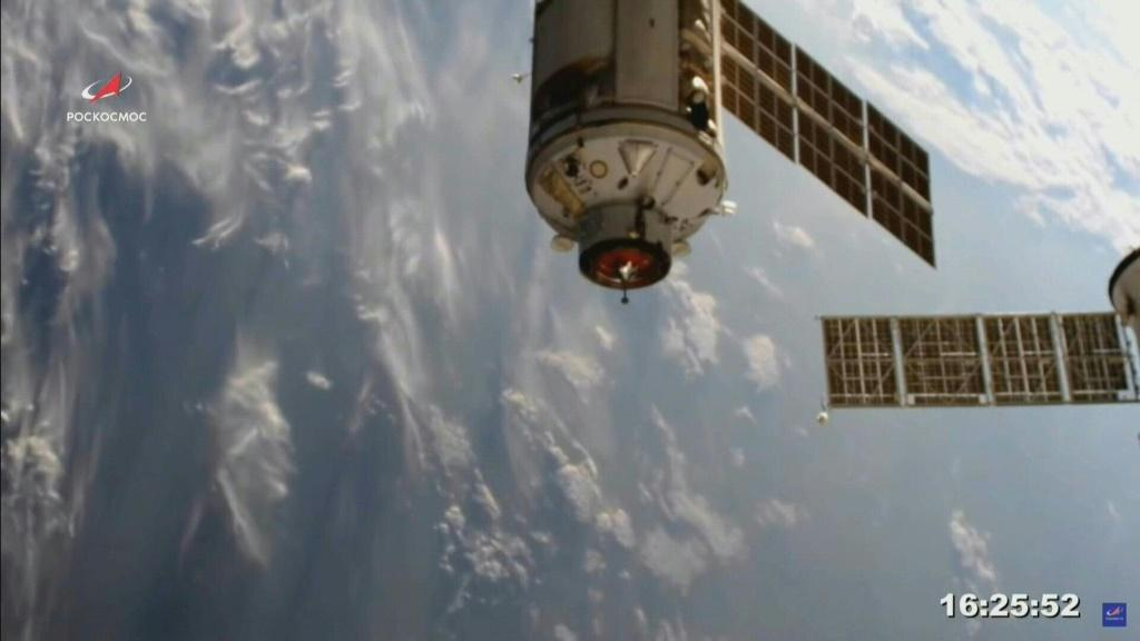 Russia's new science module docks at ISS