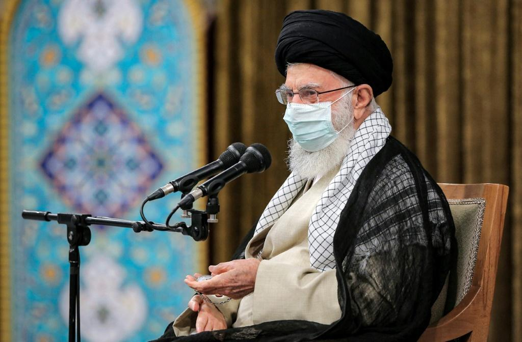 """Supreme leader Ayatollah Ali Khamenei tells Iran's outgoing government that the main lesson to be drawn from its eight years in power is that """"trusting the West does not work"""