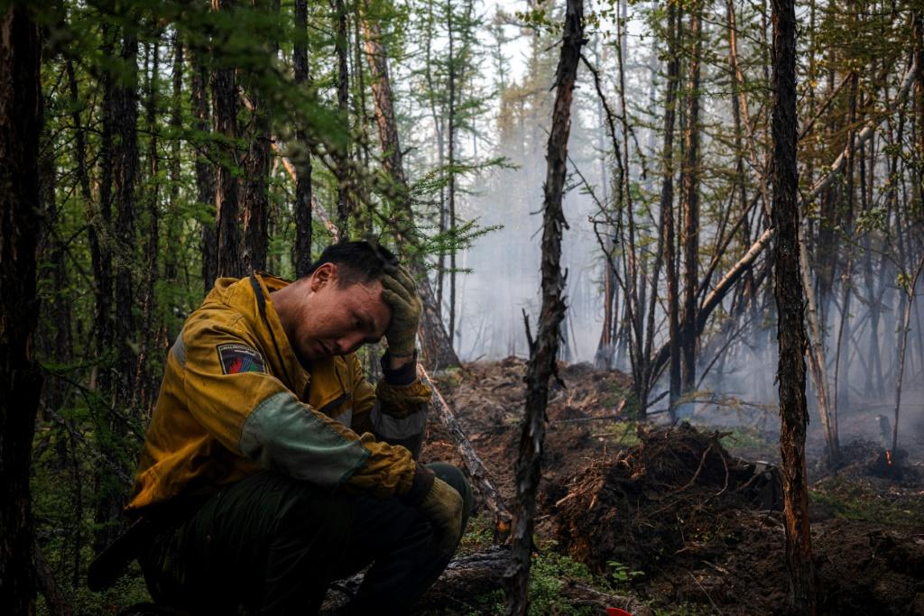 The forest protection team has lost track of how many blazes they have tackled since late May as Siberia's Yakutia suffers through another ever-worsening wildfire season