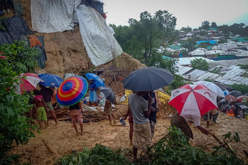 Earlier this week Bangladesh evacuated 10,000 Rohingya from around refugee camps in Cox's Bazar because of the storms