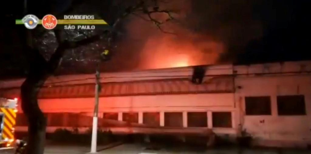Fifteen fire trucks and more than 50 firefighters battled the flames for over two hours, but were unable to save all of the cinematheque's warehouse