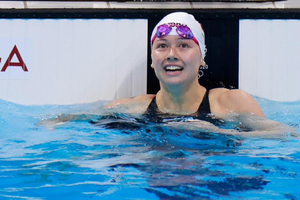 Hong Kong's Siobhan Haughey -- one of the surprises of the swimming events -- earned another silver medal to add to that from the 200m freestyle