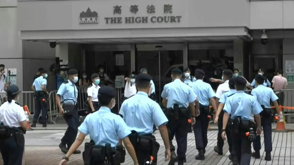 IMAGES Outside Hong Kong's high court after a judge orders a Hong Kong waiter to serve nine years in jail in the first conviction under a sweeping new national security law that Beijing imposed on the city to stamp out dissent.