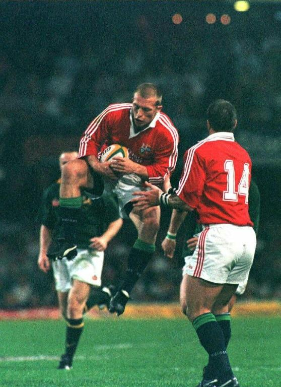 Jump to it - Matt Dawson in action for the 1997 British and Irish Lions during the second Test against South Africa in Durban