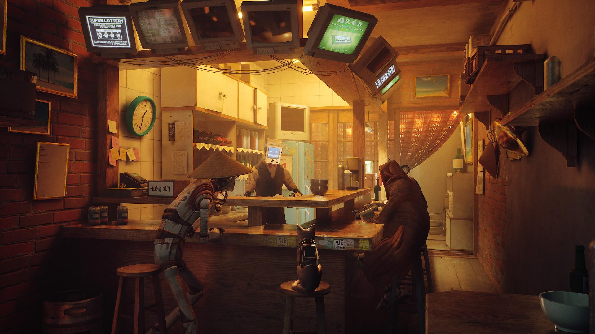 Stray is set in a futuristic city filled neon-lit alleys, abandoned residential areas and quaint establishments operated by sentient machines