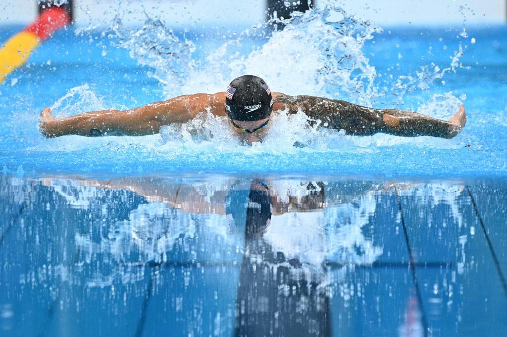 Caeleb Dressel powered to his third gold medal of the Tokyo Games