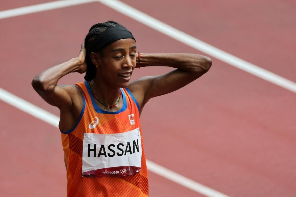 Sifan Hassan won her heat in the women's 1500m at the Tokyo Olympics