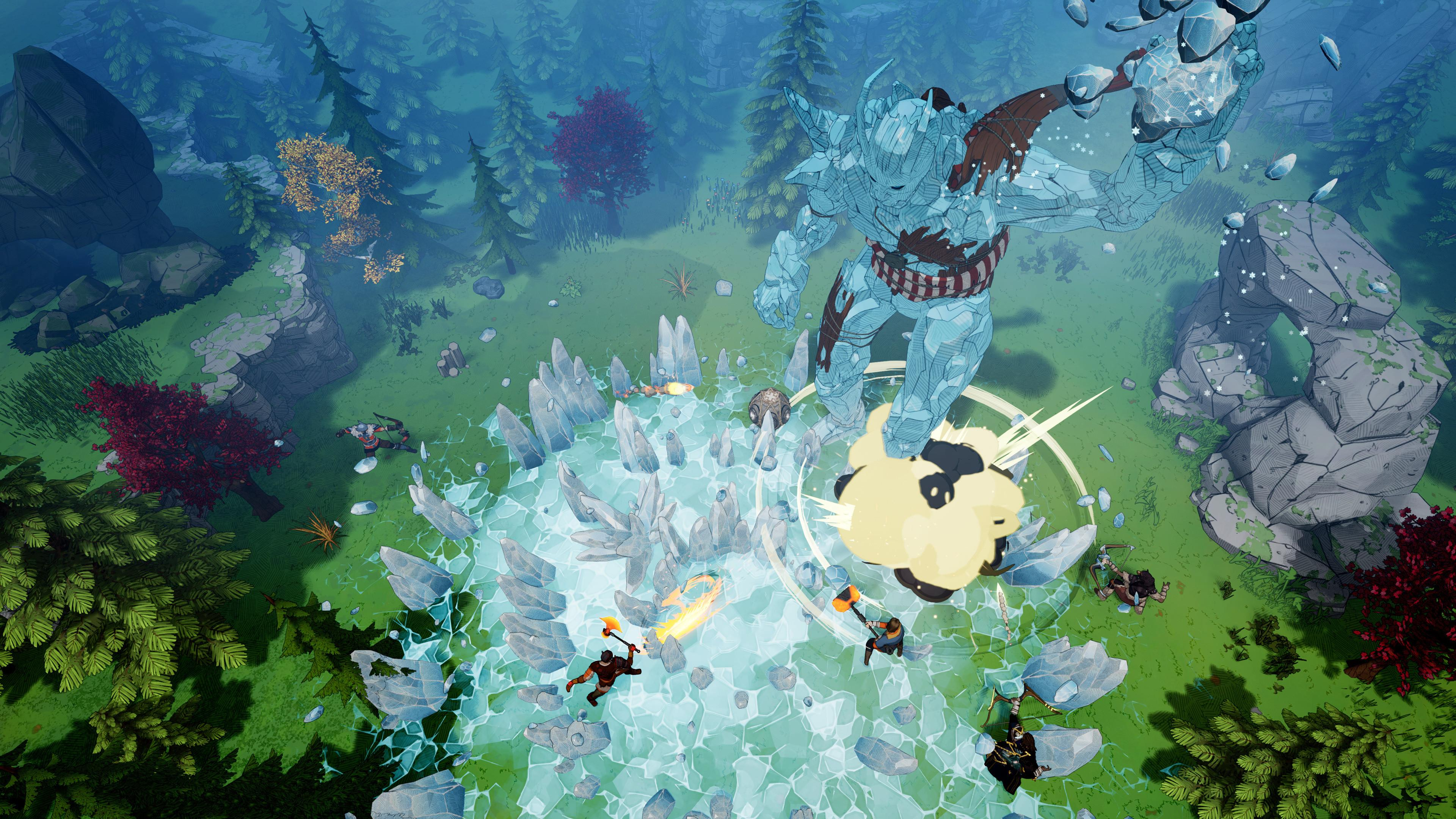 Tribes of Midgard features battles against enemies of gigantic proportions