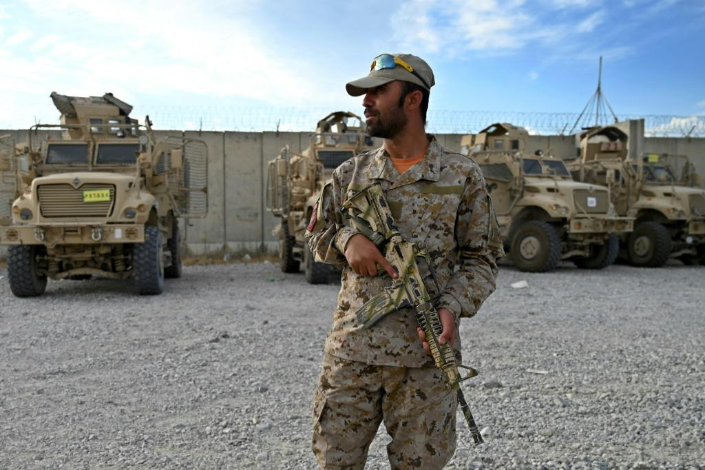 With more than 300,000 personnel -- police included -- Afghanistan's armed forces are bigger and more advanced than the Taliban, who are mainly a guerrilla infantry