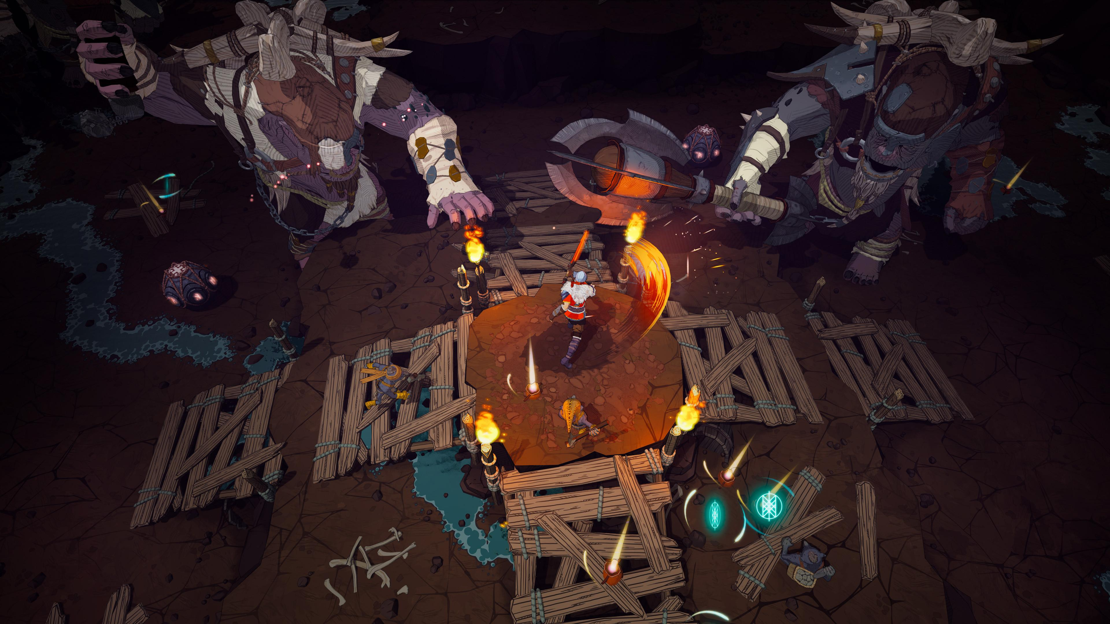 Tribes Of Midgard combines ARPG gameplay with elements of exploration and survival games