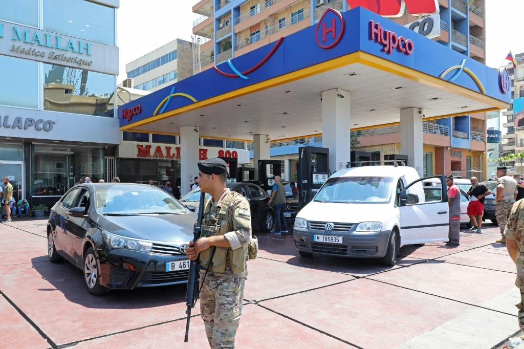 Lebanon's army has deployed at gas stations to stop fuel hoarding in the country after the central bank's decision to stop fuel subsidies sparked panic in the crisis-hit country