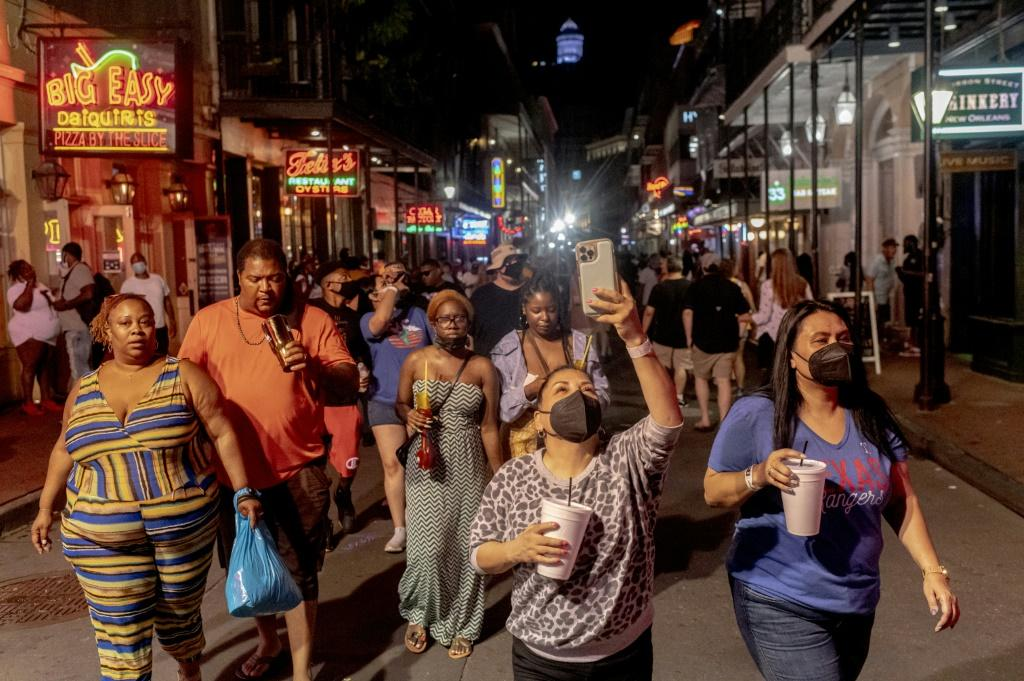New Orleans' historic French Quarter is as lively as ever, even as the Delta variant tears through the US South