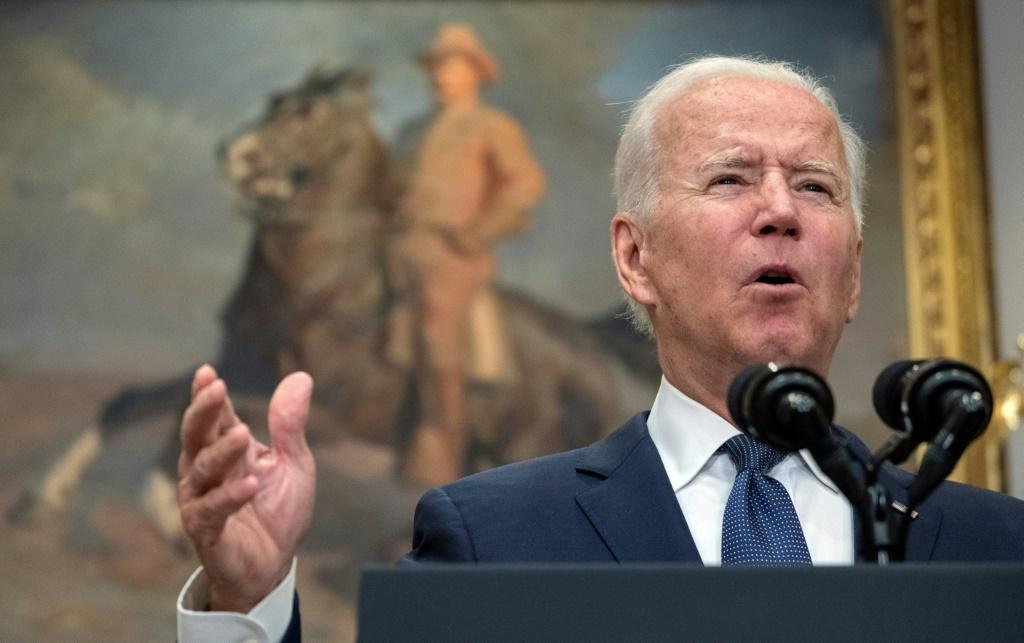 US President Joe Biden says he still hopes the Afghan evacuation will end on time but warns of terrorist threats