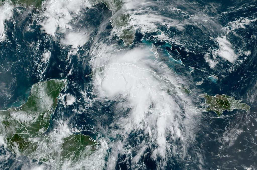 Tropical Storm Ida was churning through the Caribbean toward the US Gulf Coast on August 27, 2021 and is expected to be upgraded to a hurricane by the time it hits Cuba