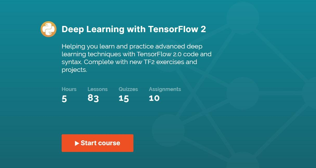 365 Data Science's Deep Learning with TensorFlow2 course