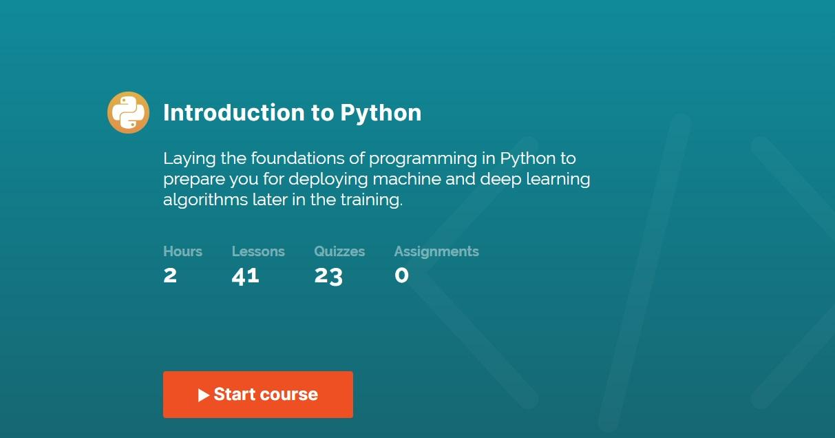 365 DataScience's Introduction to Python course