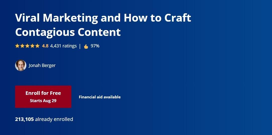 Coursera's Viral Marketing course