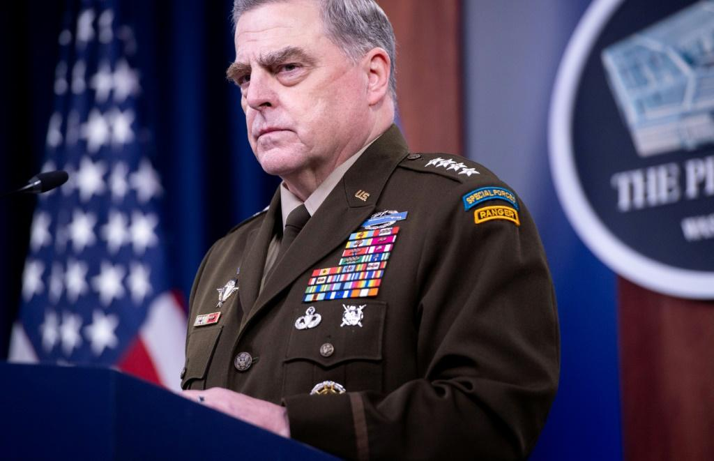 US Army General Mark Milley, Chairman of the Joint Chiefs of Staff, tells reporters about the pain felt as the Afghanistan war ended and tough choices were made